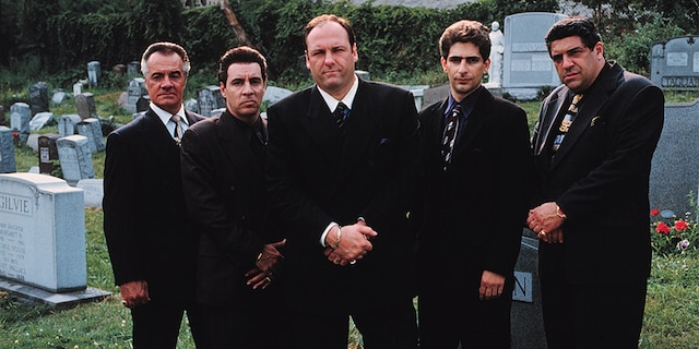 """Sopranos"" cast members, from left: Tony Sirico, Steve Van Zandt, James Gandolfini, Michael Imperioli And Vincent Pastore. (Getty Images)"