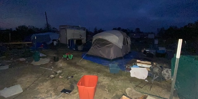 Hurricane Laura left hundreds of people without homes. Some of those people are now living in tents as they wait for help from FEMA.