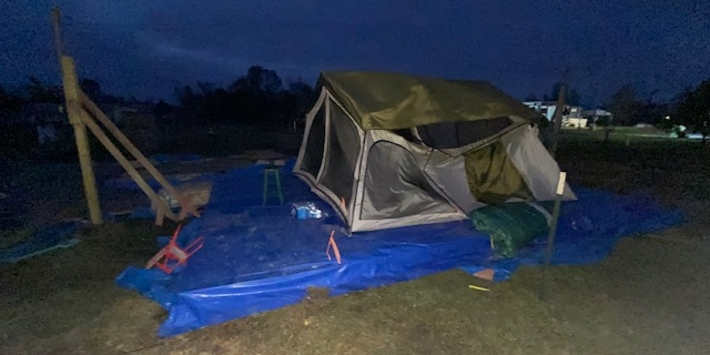 Katelyn Smith lived in a tent for two months with her fiance and her baby.