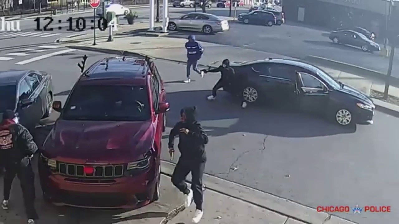 Chicago police release footage of retired firefighter's murder