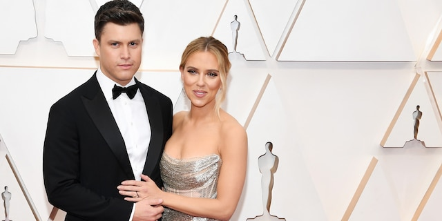 Scarlett JohanssonandColin Jostalso tied the knot in October. (Photo by Kevin Mazur/Getty Images)