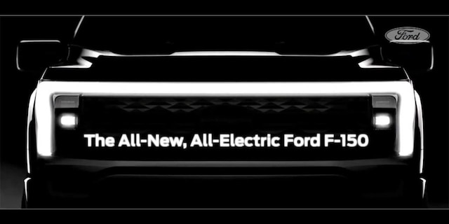 The electric F-150 will feature a unique version of the 2021 F-150's style.
