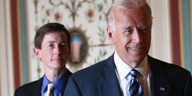WASHINGTON, DC - JUNE 22, 2011: U.S. Vice President Joseph Biden (C) arrives for a meeting with a bicameral and bipartisan group of legislators with his Chief of Staff Bruce Reed (L) Reed was named as Biden's deputy chief of staff Tuesday. (Photo by Win McNamee/Getty Images)