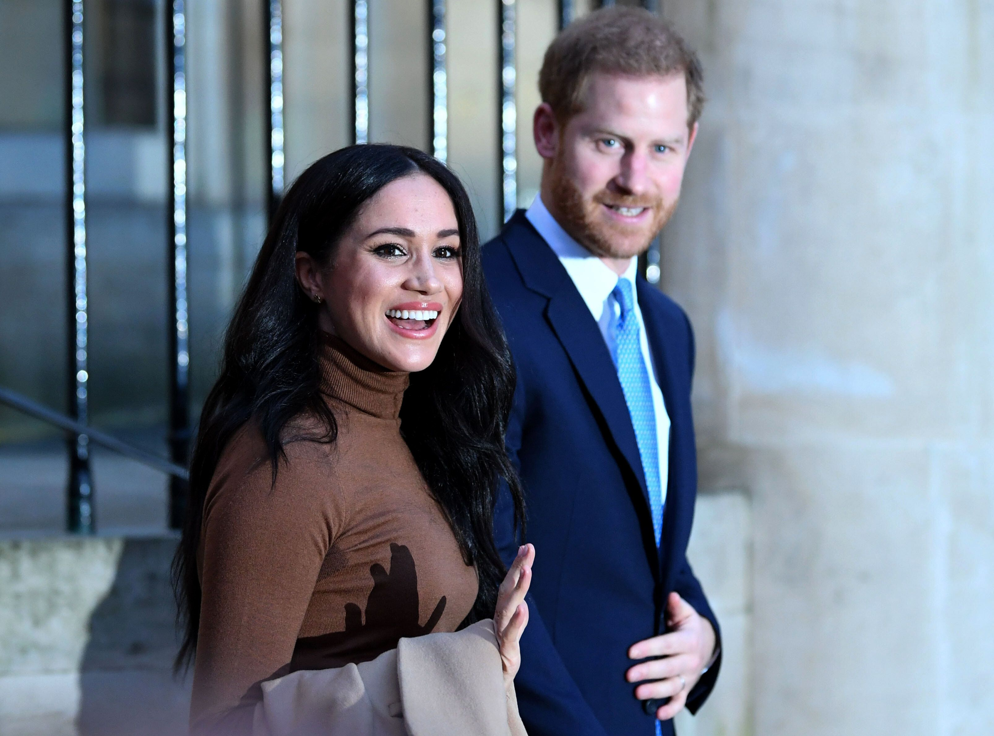 The Duke and Duchess of Sussex in London, one day before their bombshell announcement.