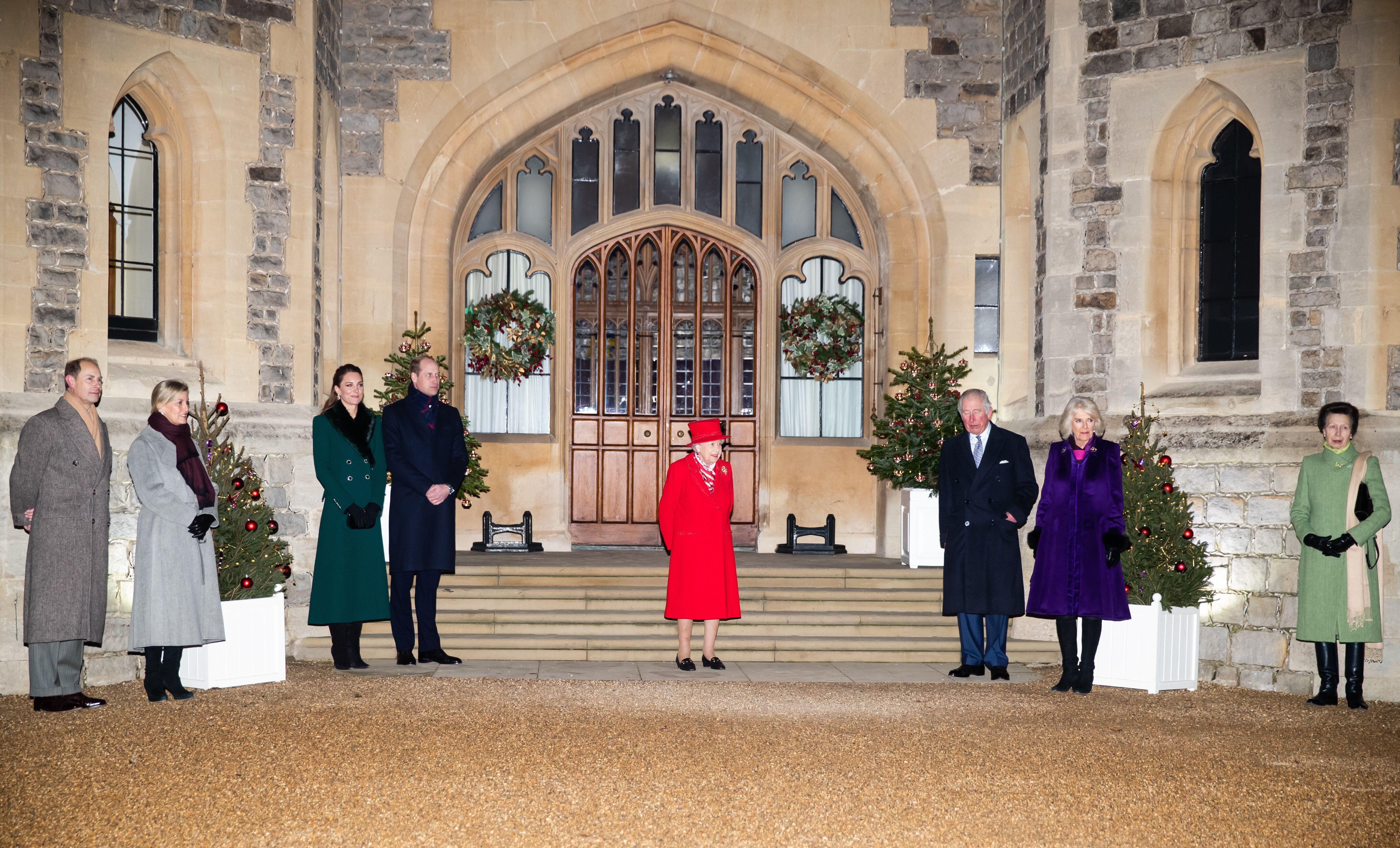 The royals reunited at Windsor Castle in December.