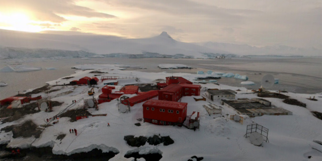 There are 36 coronavirus cases at the Gen. Bernardo O'Higgins Riquelme Antarctic base, Chile says. (Google Street View)