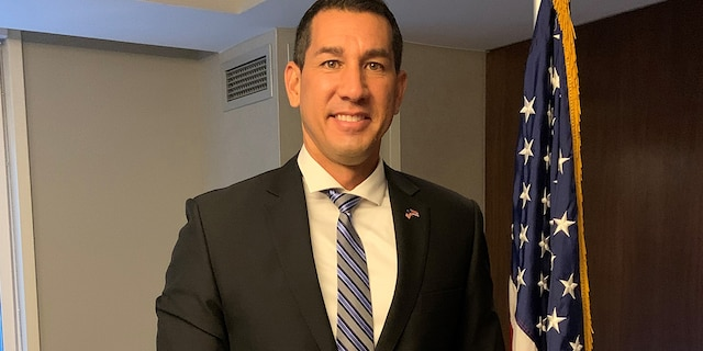 Rep.-elect Kai Kahele of Hawaii's Second Congressional District arrives in Washington for congressional orientation in November 2020. Kahele madehistory as just the second Native Hawaiian elected to Congress to represent Hawaii since it became the 50th state in1959. (Marisa Schultz/Fox News)