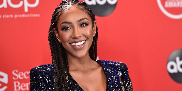 'Bachelorette' Tayshia Adams accepted a marriage proposal from Zac Clark, a 36-year-old addiction specialist from New Jersey. (ABC via Getty Images)