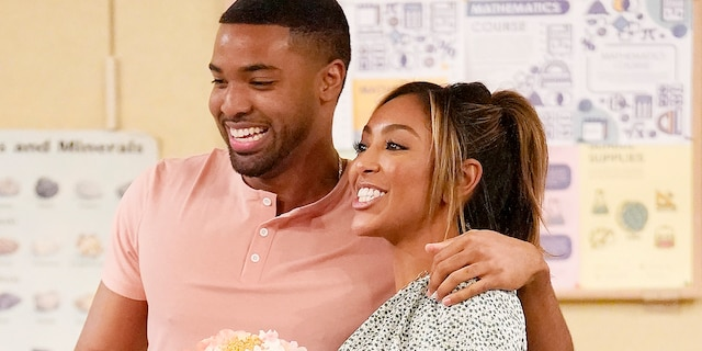 Ivan Hall and Tayshia Adams had hit it off all season long on 'The Bachelorette' before their differing beliefs became a turning point. (Craig Sjodin via Getty Images)