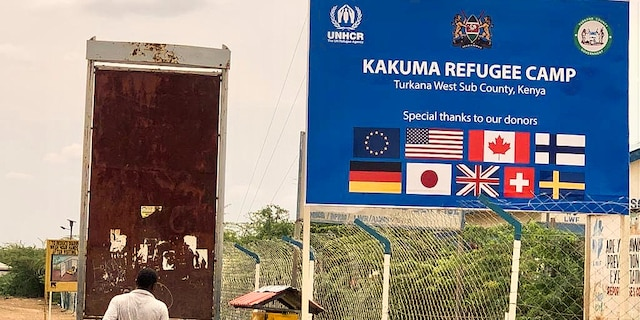 For some eight years, from 1992 onwards, Deng resided in the Kakuma Refugee Camp's dusty confines in northern Kenya, which remains one of the continent's largest for the displaced today. (Fox News/Hollie McKay)
