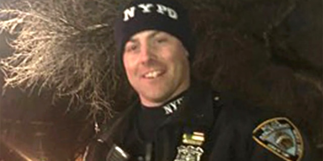 NYPD Officer Connor Boalick, 27, is expected to be OK after being shot in the back. (Courtesy: NYPD)