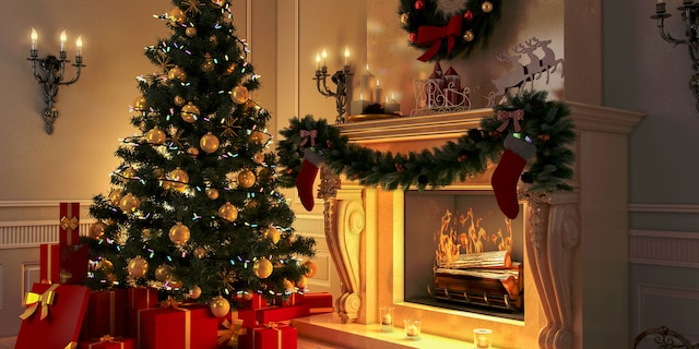 Merrymakers should remove real Christmas trees from inside the home when the evergreen becomes overly dry to the touch, for safety's sake.