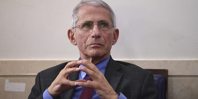 Anthony Fauci, director of the National Institute of Allergy and Infectious Diseases, attends a Coronavirus Task Force news conference at the White House in Washington, D.C., Friday, April 10, 2020. Photographer: Kevin Dietsch/UPI/Bloomberg via Getty Images