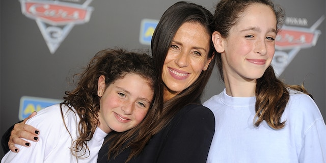 "Soleil Moon Frye, daughters Jagger Joseph Blue Goldberg and Poet Sienna Rose Goldberg arrive at the premiere of Disney And Pixar's ""Cars 3"" at Anaheim Convention Center on June 10, 2017, in Anaheim, California. (Photo by Gregg DeGuire/WireImage)"