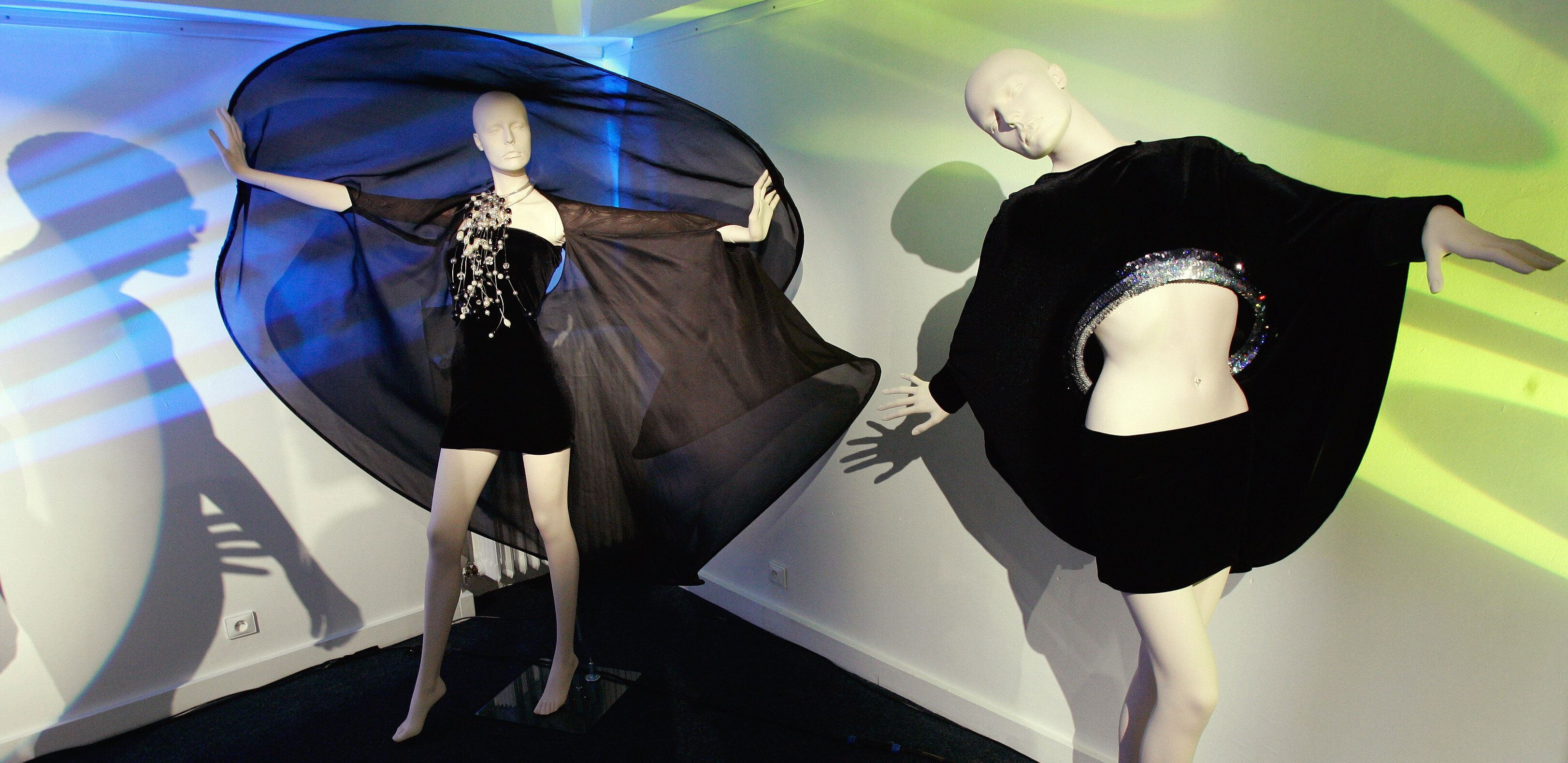 Creations by Pierre Cardin are displayed as part of his Spring-Summer 2007 fashion collection in Paris in 2006.