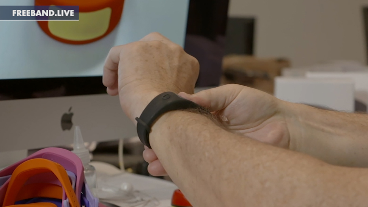Hollywood producer creates hand sanitizer wristband to help combat COVID-19