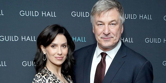 Hilaria Baldwin and Alec Baldwin attend Guild Hall Academy Of The Arts Achievement Awards 2020 at the Rainbow Room on March 3, 2020, in New York City. (Getty Images)