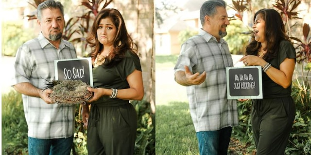 Dalila and Juan Perez officially became empty nesters when their youngest child got married and moved out in August.(Melyssa Anne Photography)