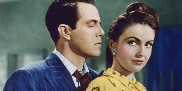 """Repeat Performance"" (1947) stars Louis Hayward and Joan Leslie."
