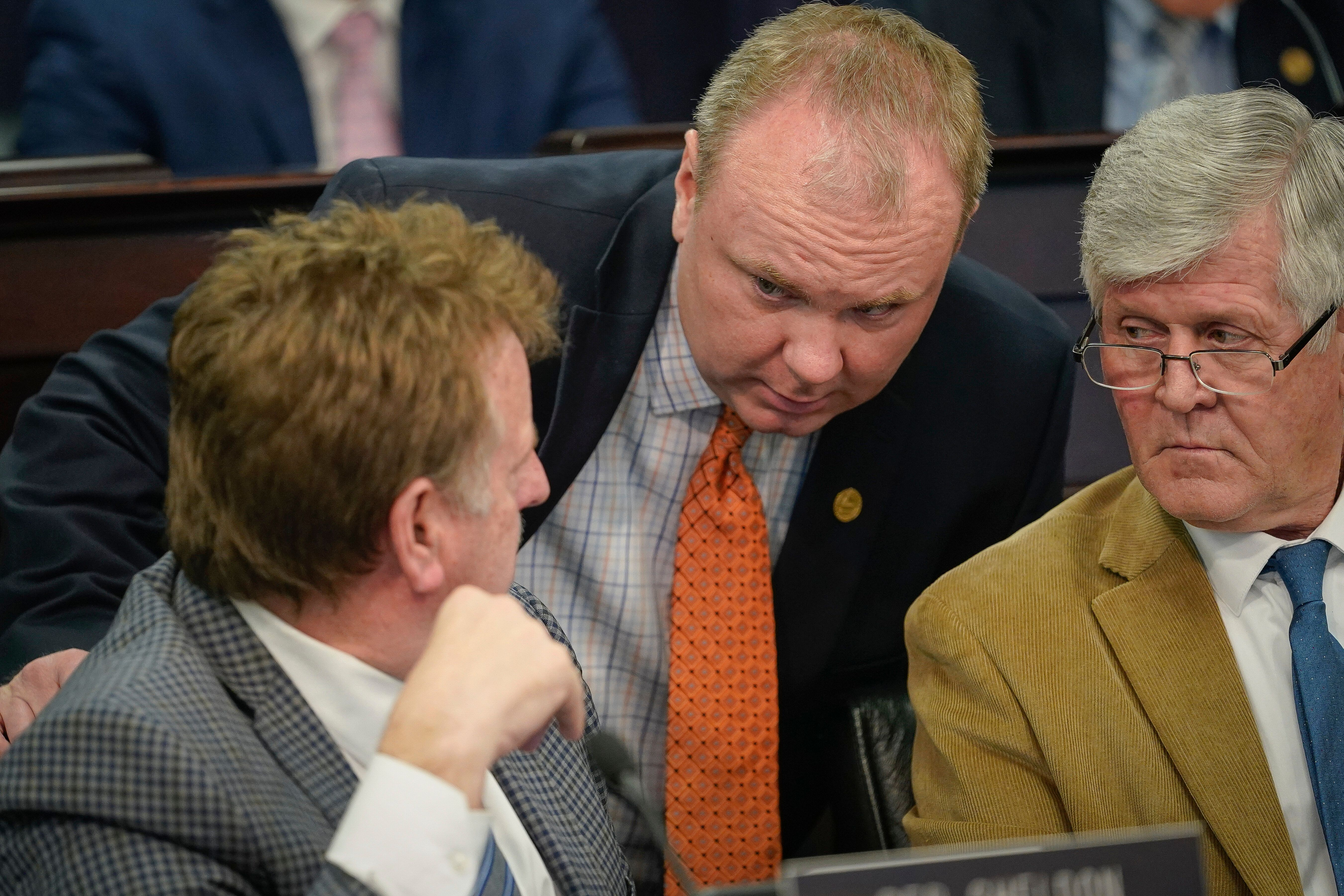 State Rep. Jason Nemes (center) and the GOP insist that their efforts to limit the powers of Gov. Andy Beshear — the on