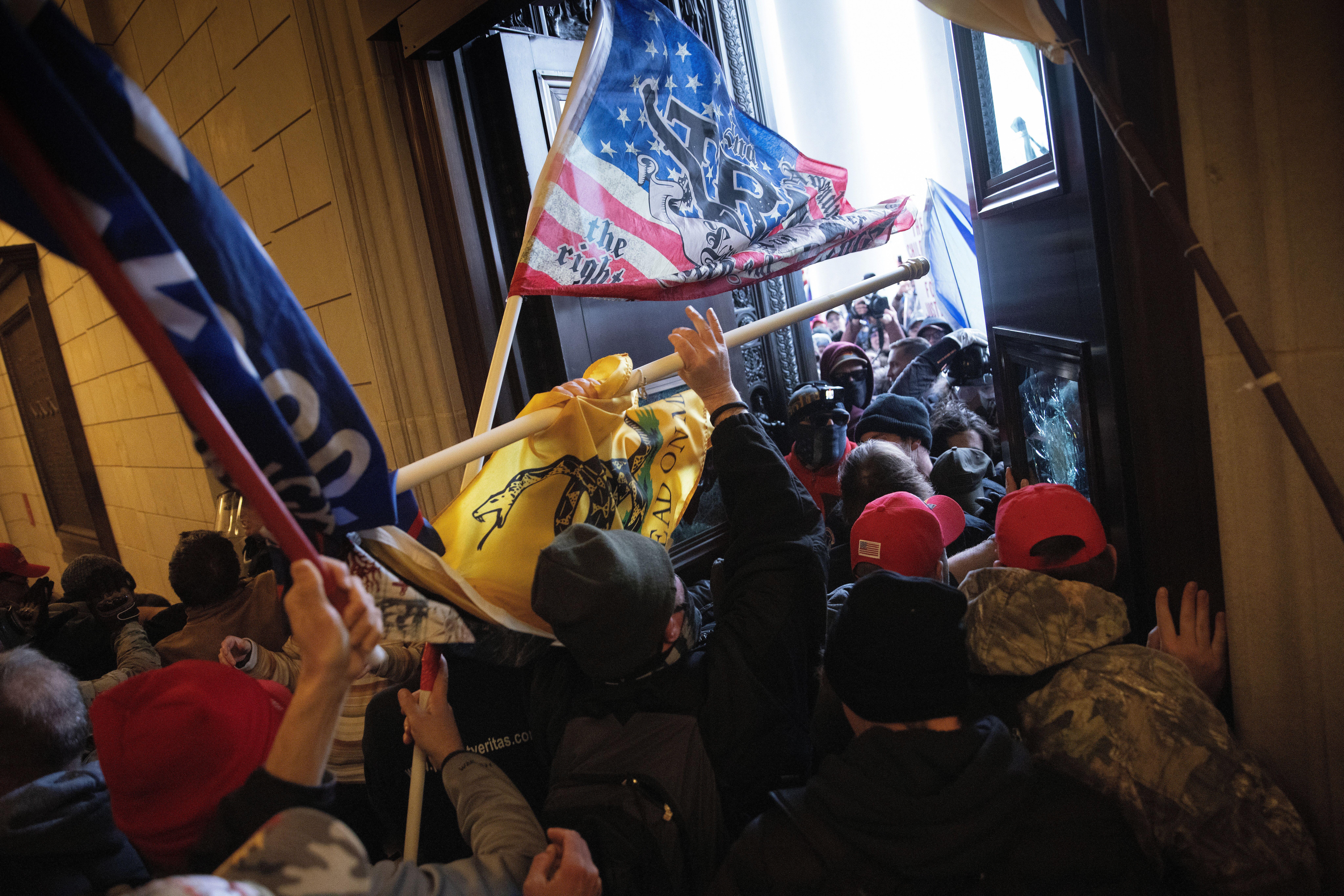 A pro-Trump mob breaks into the U.S. Capitol on Jan. 6, 2021, in Washington.