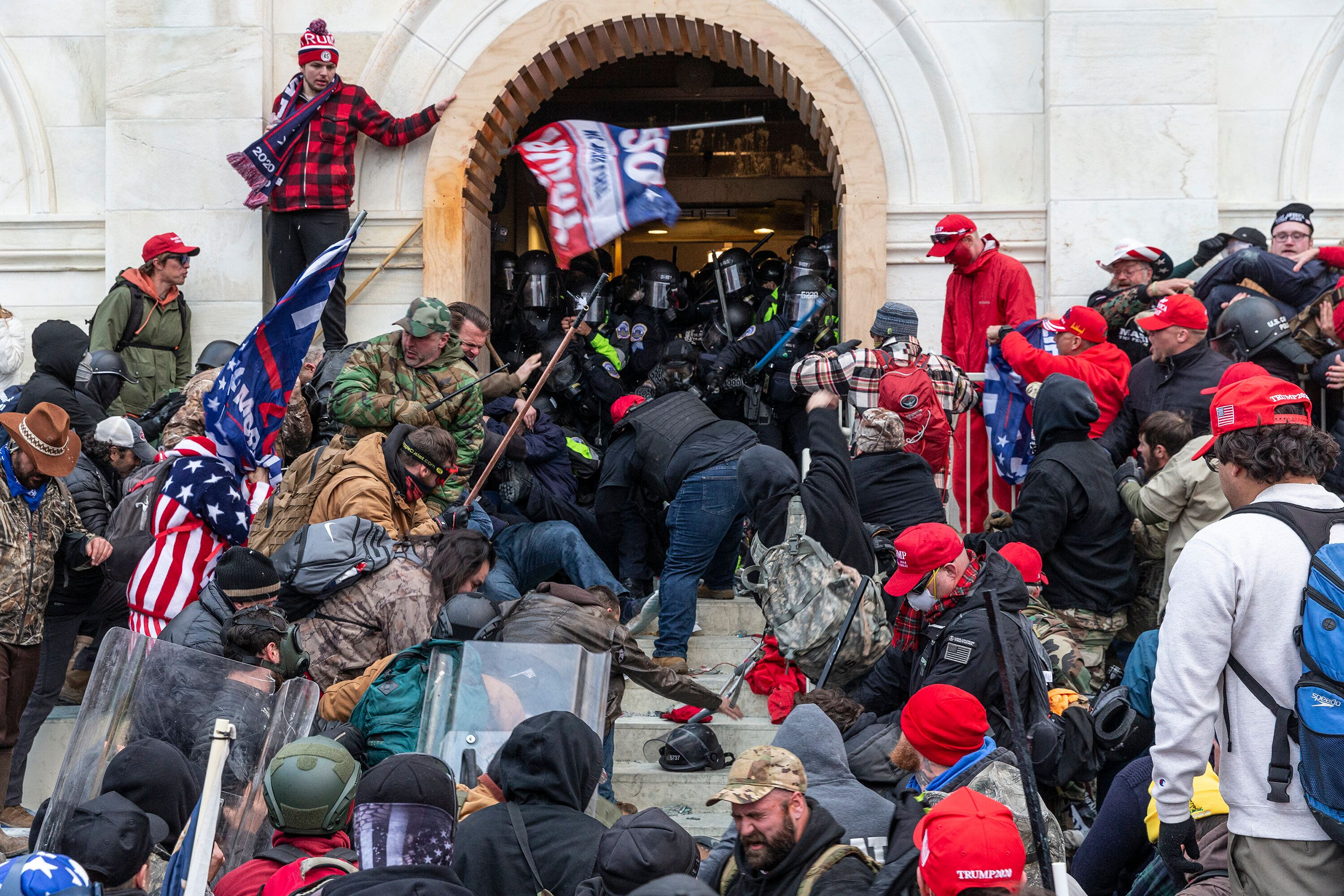 Pro-Trump extremists broke windows and breached the Capitol building on Jan. 6 in an attempt to overthrow the results of the