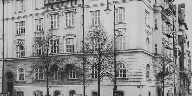 14 Prinzregent Platz, Munich where Alice Frank Stock lived as a child. Alice spent more than a decade living in the same apartment block as Adolf Hiter when she was young. (Credit: SWNS)
