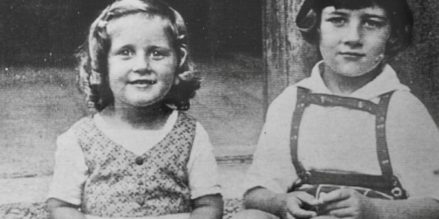 Alice Stock Frank, aged 3, with her brother Richard, aged 6. (Credit: SWNS)