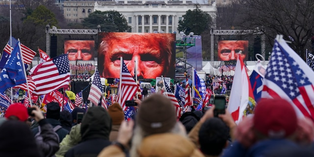 Supporters of President Trump participate in a rally in Washington on Jan. 6, 2021. (AP Photo/John Minchillo, File)