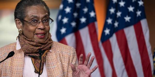 Eleanor Holmes Norton, District of Columbia delegate to the House of Representatives, speaks during a press conference to mark the anniversary of the House passage of the 19th Amendment and women's right to vote, on Capitol Hill May 21 in Washington.
