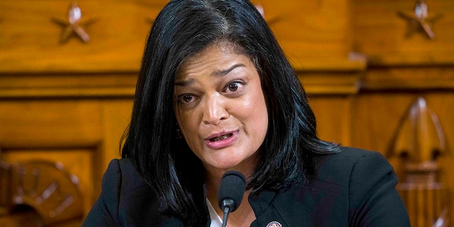 Rep. Pramila Jayapal (D-WA) questions Intelligence Committee Minority Counsel Stephen Castor and Intelligence Committee Majority Counsel Daniel Goldman during House impeachment inquiry hearings before the House Judiciary Committee on Capitol Hill December 9, 2019 in Washington, DC.