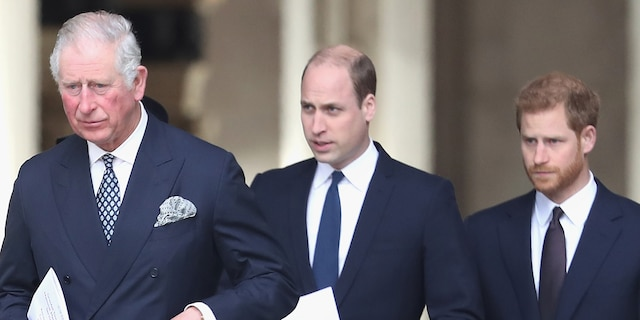 Prince William (center) and younger brother Prince Harry (right, with their father Prince Charles) have reconnected over the holidays, royal expert and Vanity Fair correspondent Katie Nicholl has revealed.