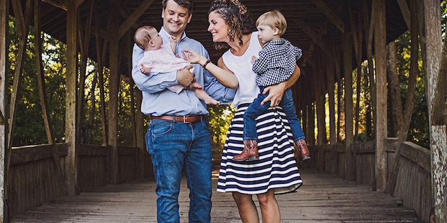 Luke and Julia Letlow with their children.