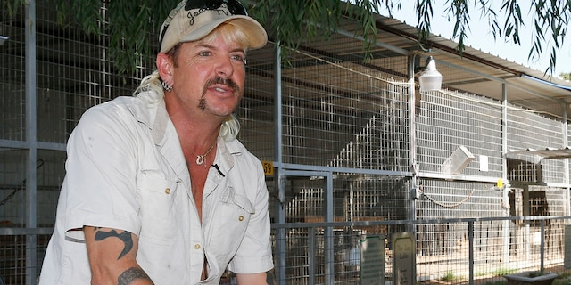 Joseph Maldonado-Passage, also known as Joe Exotic, is seen at the zoo he used to run in Wynnewood, Okla., Aug. 28, 2013. (Associated Press)