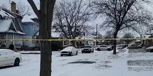 The neighborhood where the shooting happened Wednesday. (Detroit Police Department)