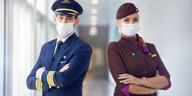 On Feb. 10, 2021, Etihad Airways issued a press release stating the airline is the first in the world to have a fully vaccinated onboard crew. (Etihad Airways)