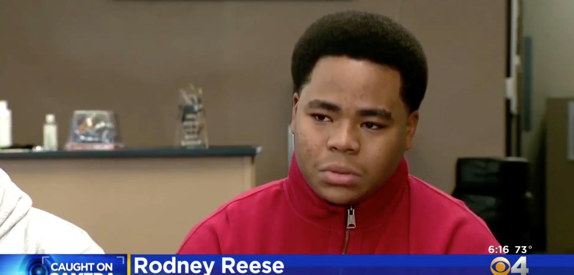Rodney Reese, 18, was arrested after he was seen walking home during a snowstorm.He believes the call that brought offi