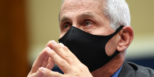 Dr. Anthony Fauci, director of the National Institute of Allergy and Infectious Diseases, waits to testify at a hearing of the U.S. House Committee on Energy and Commerce on Capitol Hill on June 23, 2020 in Washington, DC. (Photo by Kevin Dietsch-Pool/Getty Images)