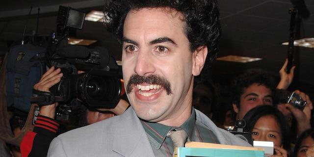 Sacha Baron Cohen as his fictional character Borat.