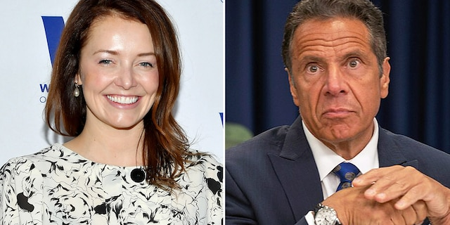 """Lindsey Boylan accused Gov. Andrew Cuomo of suggesting the pair play """"strip poker"""" as they flew together following an event. He has denied her claims."""