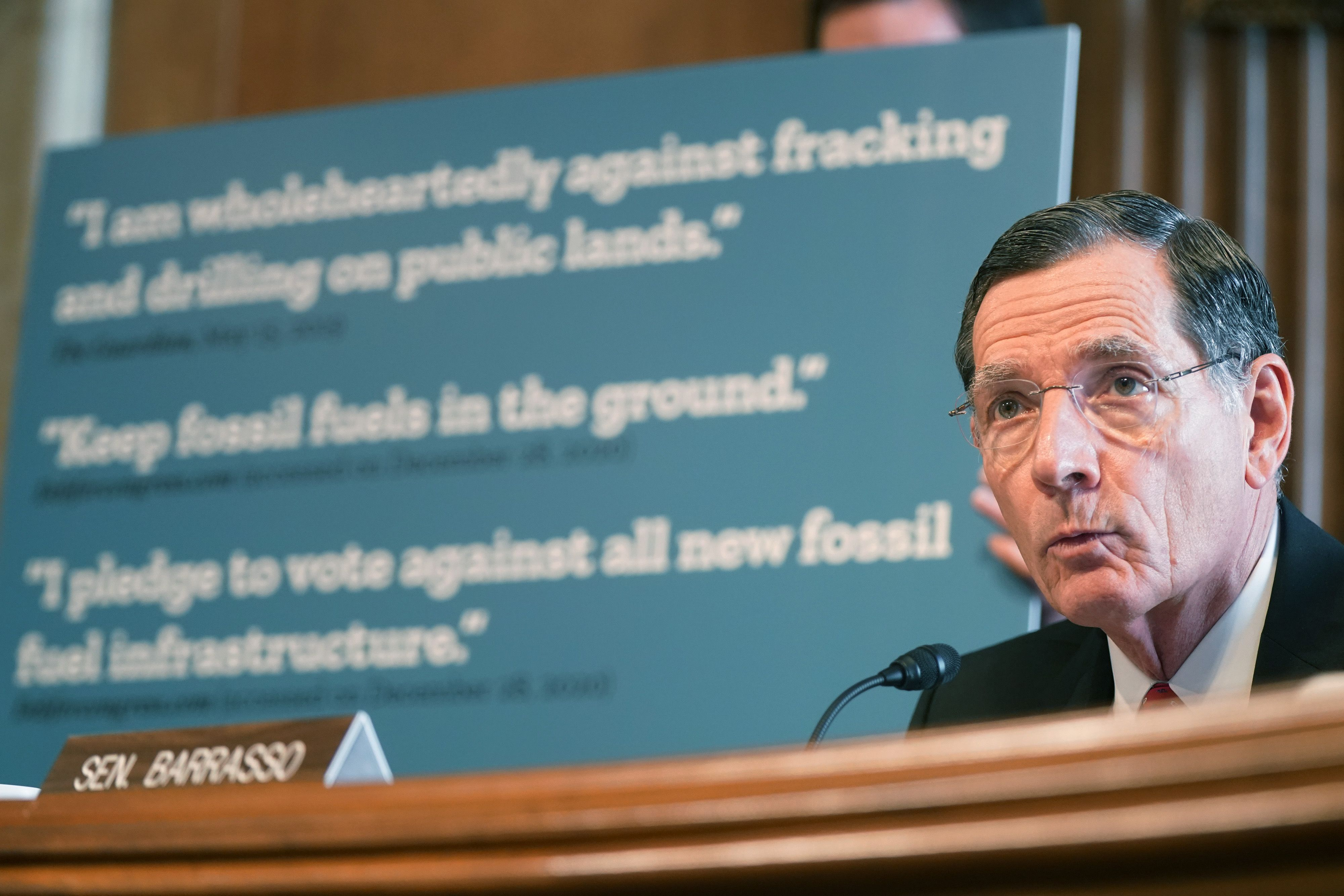 Sen. John Barrasso (R-Wyo.) had a very limited focus on what he asked Haaland about at Energy and Natural Resources Committee