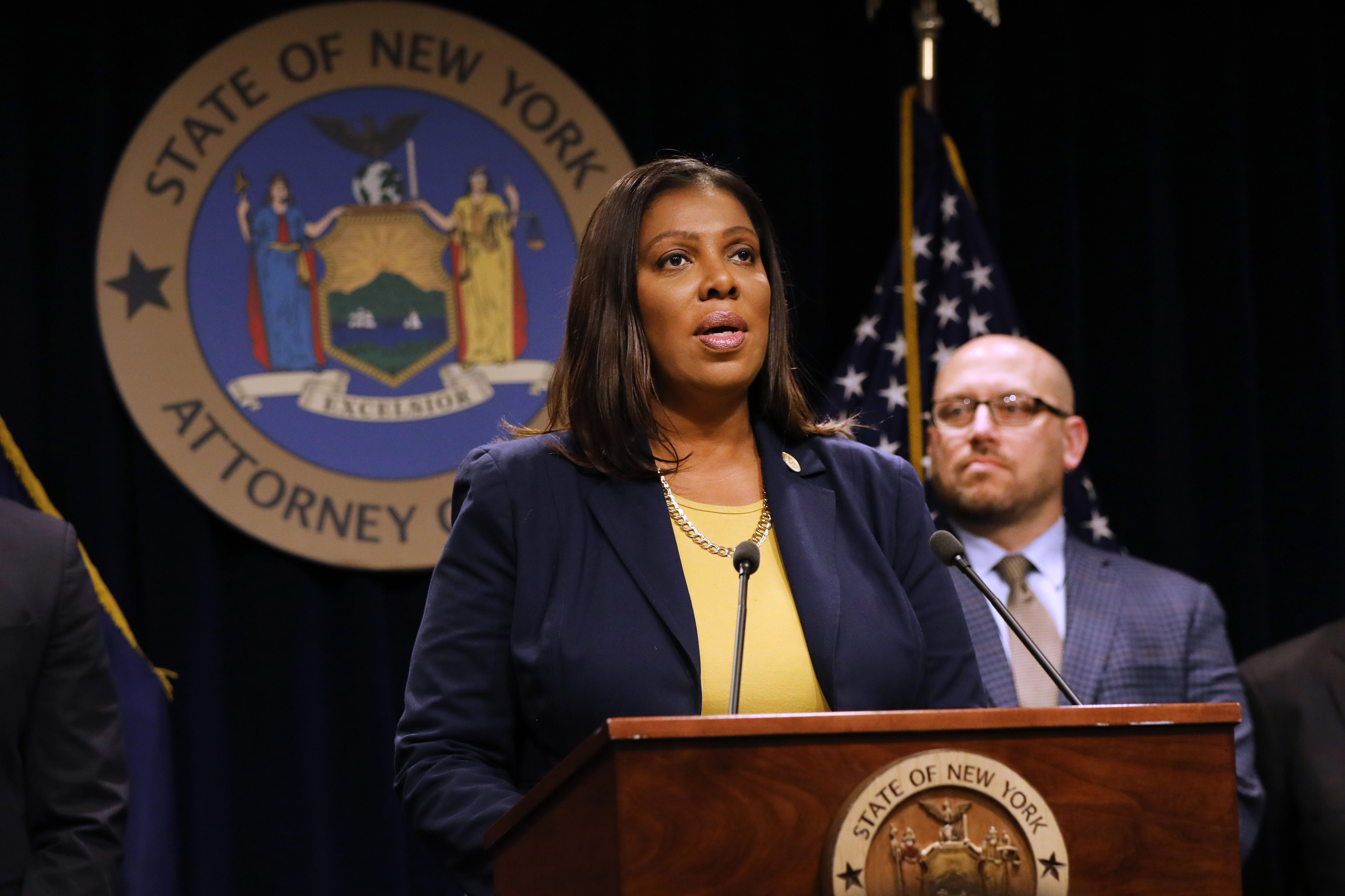 """New York politics watchers are speculating that state Attorney General Letitia """"Tish"""" James, whose January report kicked off"""