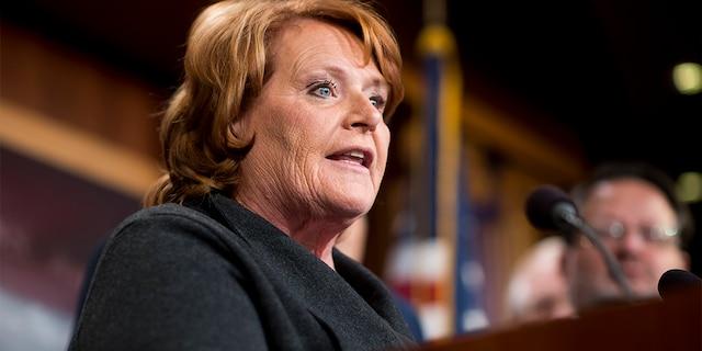 Former U.S. Sen. Heidi Heitkamp of North Dakota. (Roll Call)