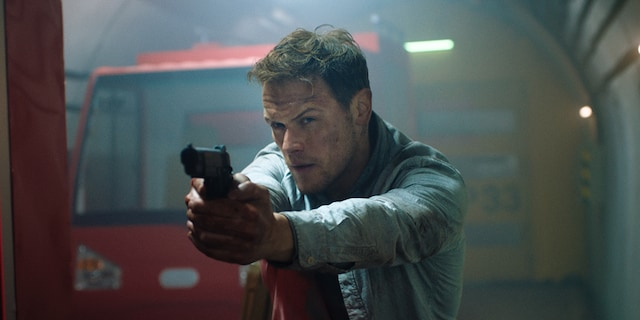 Sam Heughan plays a SAS operator who thwarts the mercenary's plan.