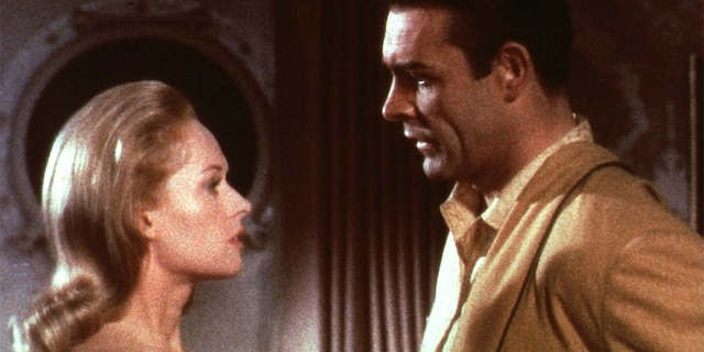 Tippi Hedren (left) and Sean Connery in 'Marnie'.