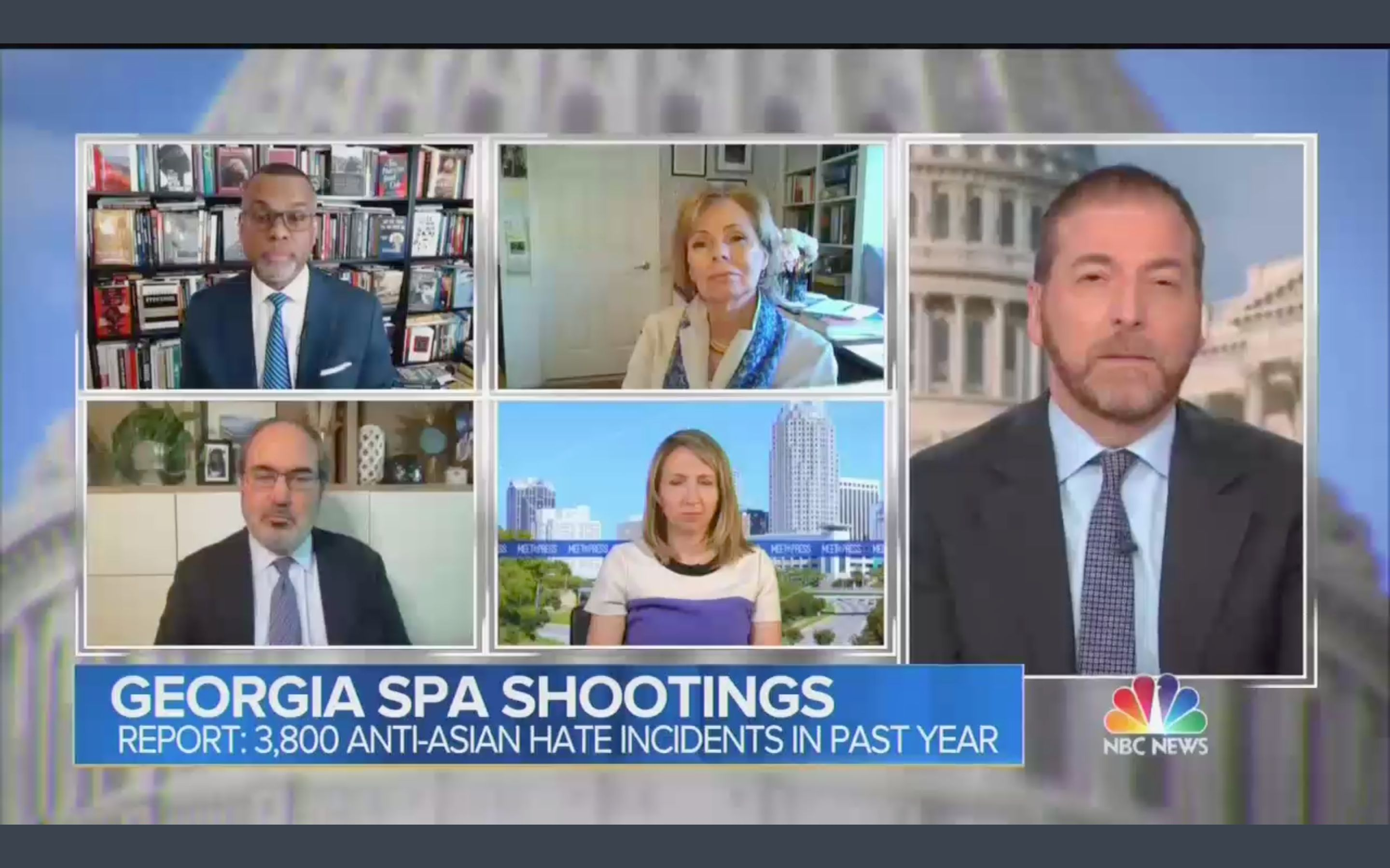 """NBC News' """"Meet the Press"""" panel on Sunday discussed a rise in anti-Asian hate incidents in the U.S., but it failed to includ"""