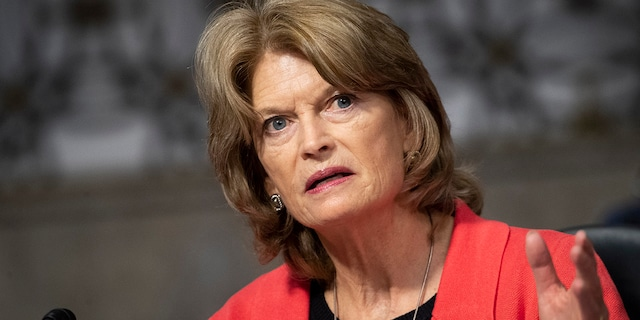 Sen. Lisa Murkowski, R-Alaska, speaks during the Senate Energy and Natural Resources Committee business meeting to vote on sending the nomination of Rep. Deb Haaland, D-N.M., to be Interior secretary, to the Senate floor in Washington on Thursday, March 4, 2021. (Photo by Caroline Brehman/CQ-Roll Call, Inc via Getty Images)