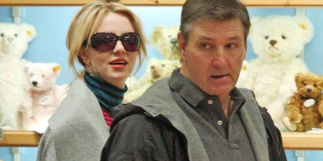 Britney Spears' father, Jamie, right, has been her legal conservator for years. (Getty, File)
