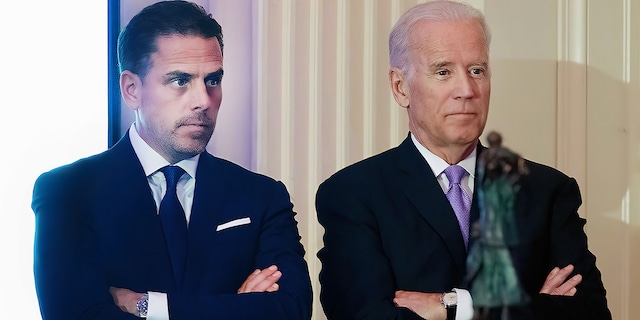 WFP USA Board Chair Hunter Biden introduces his father, Vice President Joe Biden, during the World Food Program USA's 2016 McGovern-Dole Leadership Award Ceremony at the Organization of American States on April 12, 2016, in Washington, D.C. (Kris Connor/WireImage)