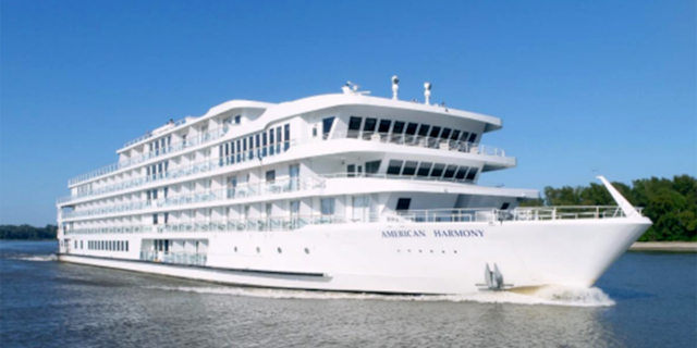 American Cruise Lines' modern riverboat American Harmony, pictured.